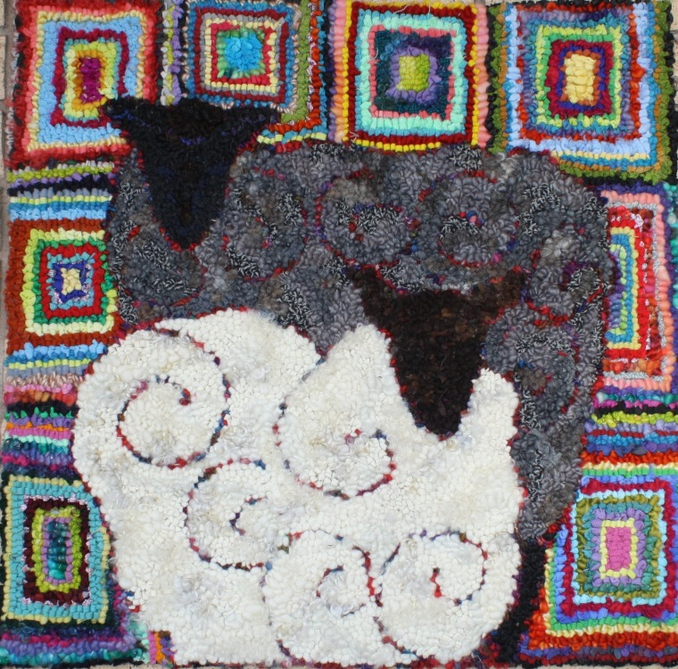 Two sheep in squares -Denice