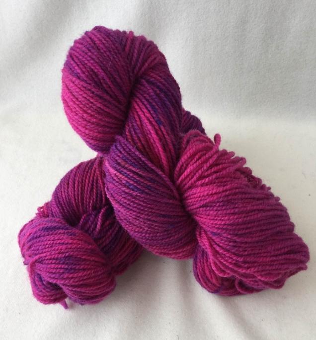raspberry jam yarn skein
